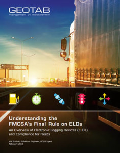 Understanding FMCSA Final Rule on ELDs